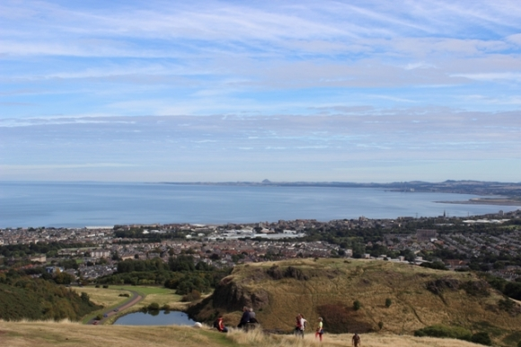 View of the Firth of Forth from atop Arthur's Seat