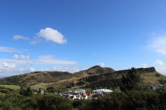 Arthur's Seat as viewed from Edinburgh
