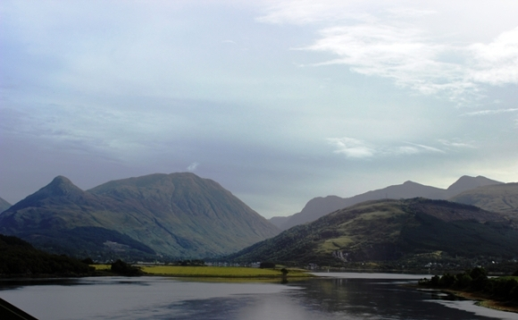 Glencoe in the distance (can you believe I took this one out of a window of a  moving bus?!)