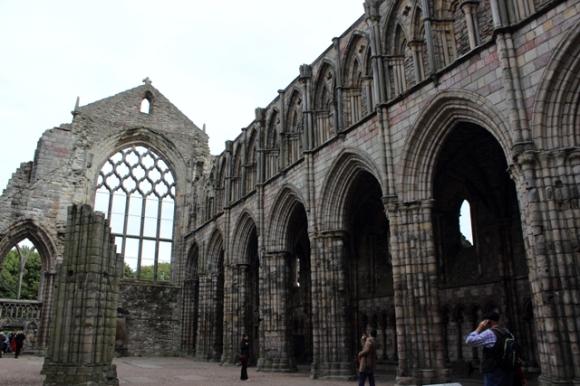 Inside Holyrood Abbey