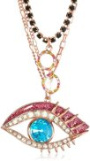 "Betsey Johnson ""Mysterious"" Eye Necklace"