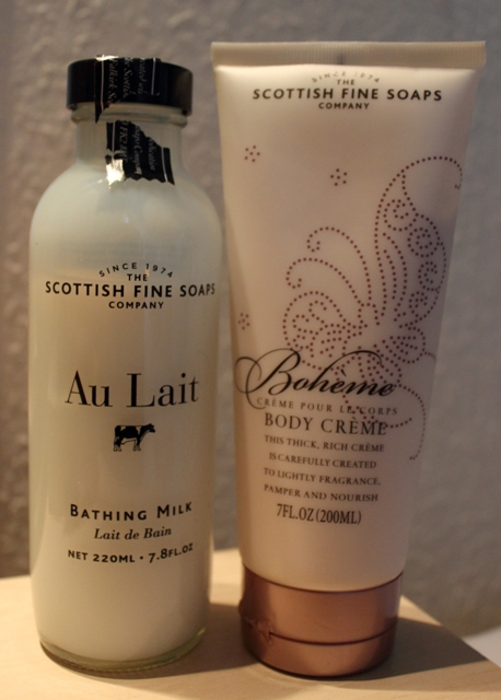 Scottish Fine Soaps: Au Lait Bath Milk & Boheme Body Lotion