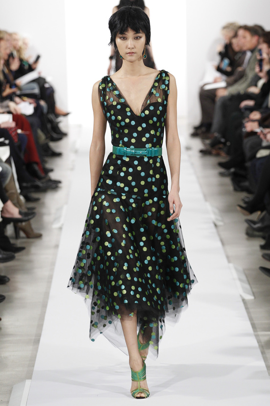 Oscar de la Renta AW14 - Polka Dot Day Dress