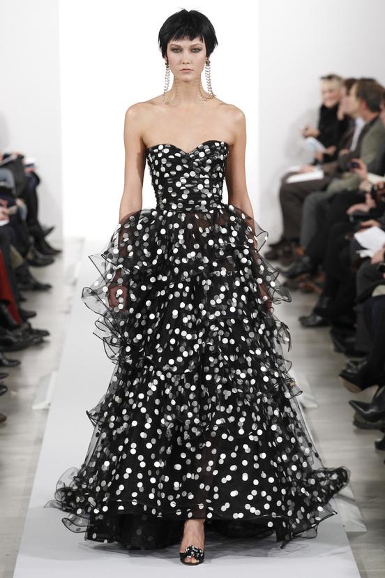 Oscar de la Renta AW14 - Polka Dot Gown