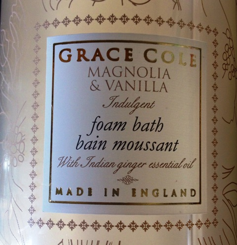 Grace Cole Bubble Bath Label