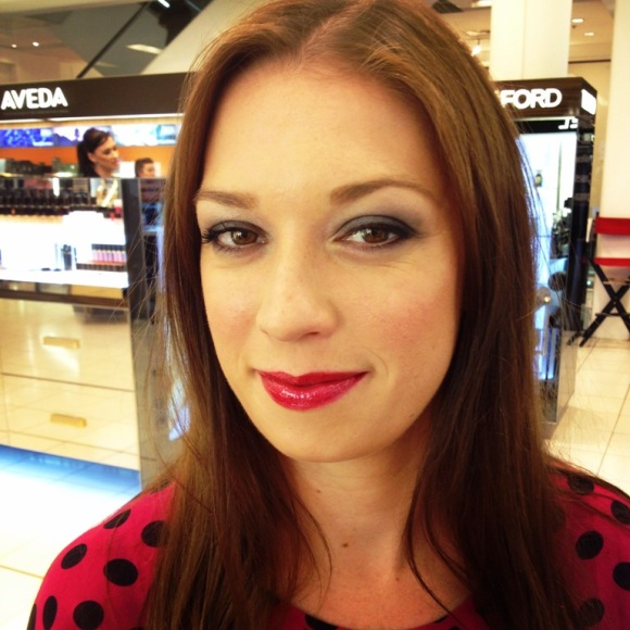 Up close & personal with Chanel beauty: a bold lip to match the subtle smoky eye